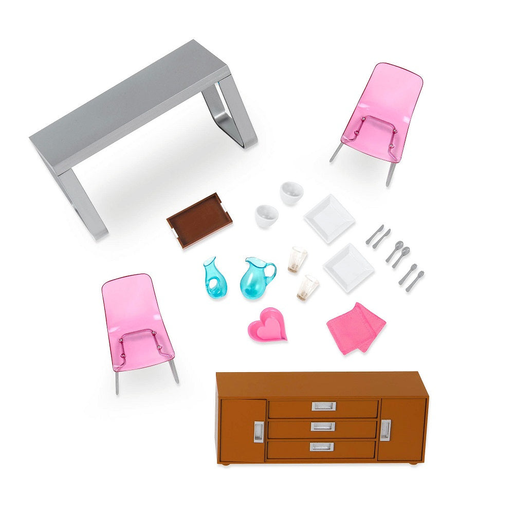 Lori Doll House Modern Dining Set