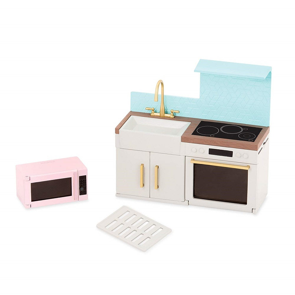 Lori Doll House Modern Kitchen Set
