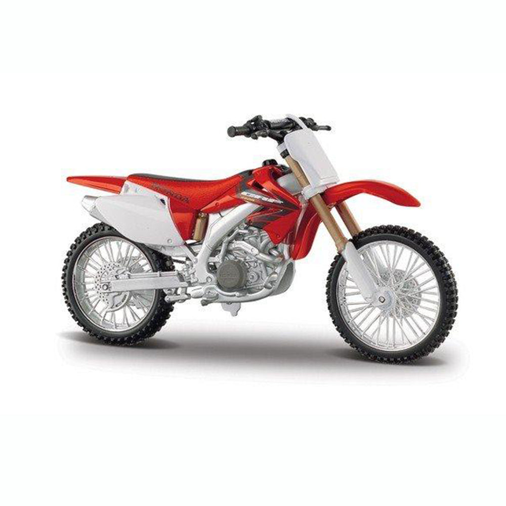 Maisto Honda CRF 450R White/Red Mototorcycle Scale 1:12