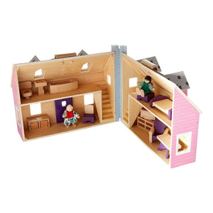 Melissa & Doug Fold And Go Wooden Doll House