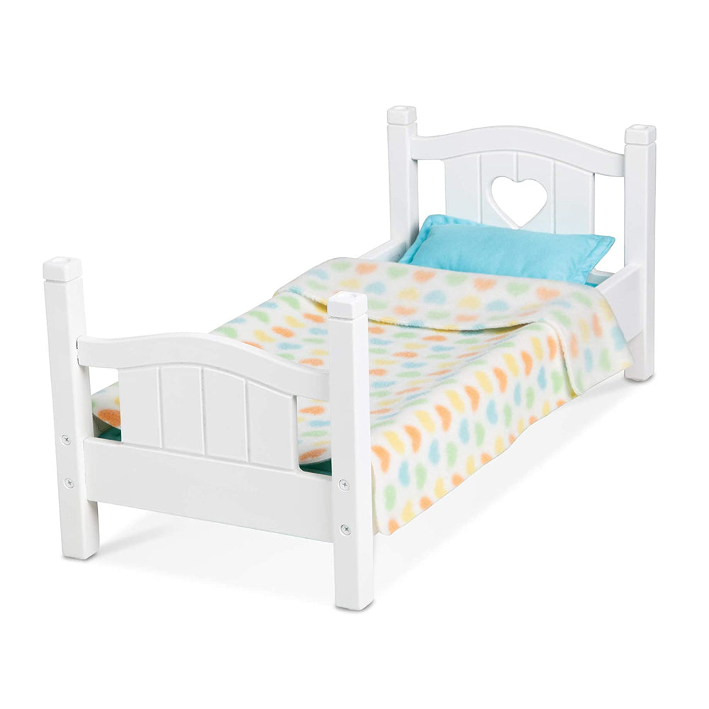 Melissa & Doug Mine to Love Wooden Play Bed for Dolls
