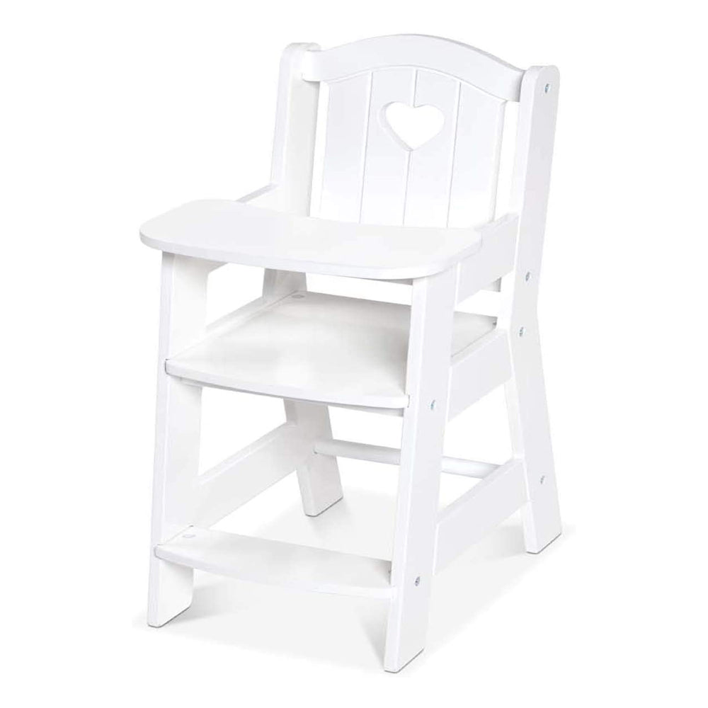 Melissa & Doug Mine to Love Wooden Play High Chair for Dolls