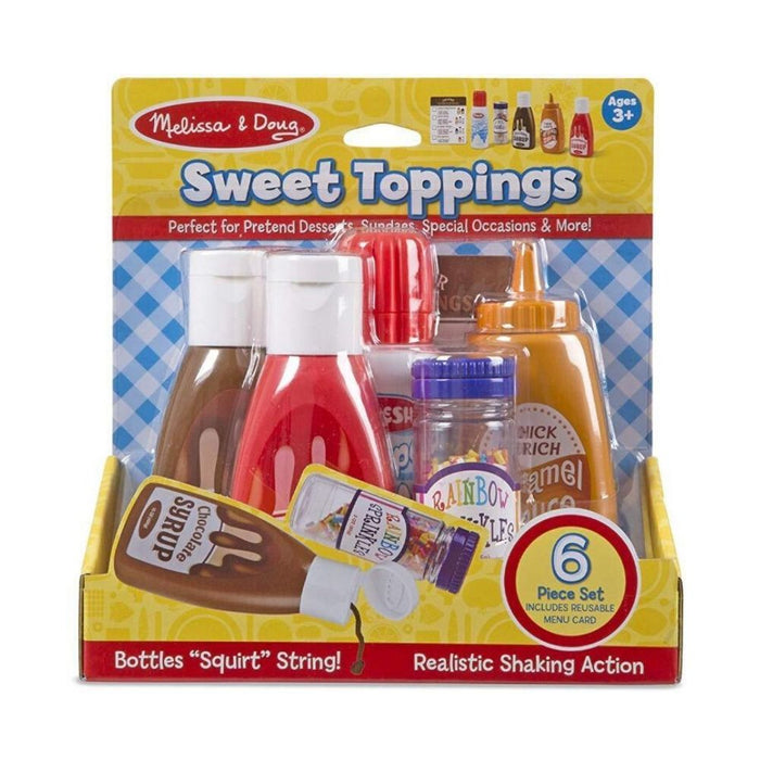 Melissa & Doug Sweet Toppings Dessert Play Food Set