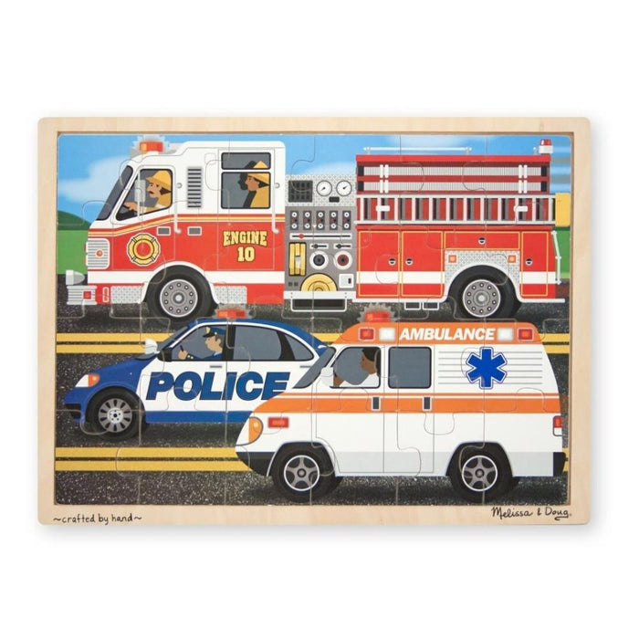 Melissa & Doug To the Rescue Wooden Jigsaw 24 pc puzzle