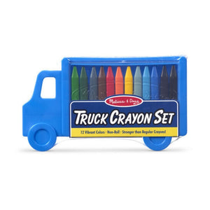 Melissa & Doug Truck Crayon Set 12 Colors