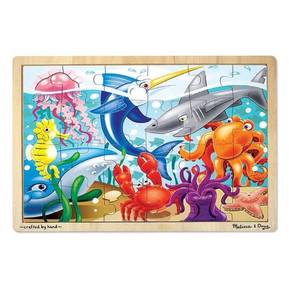 Melissa & Doug Under the Sea Wooden Jigsaw Puzzle - 24 Pieces