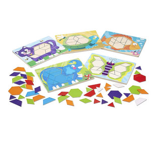 Melissa & Doug Animal Pattern Block Set