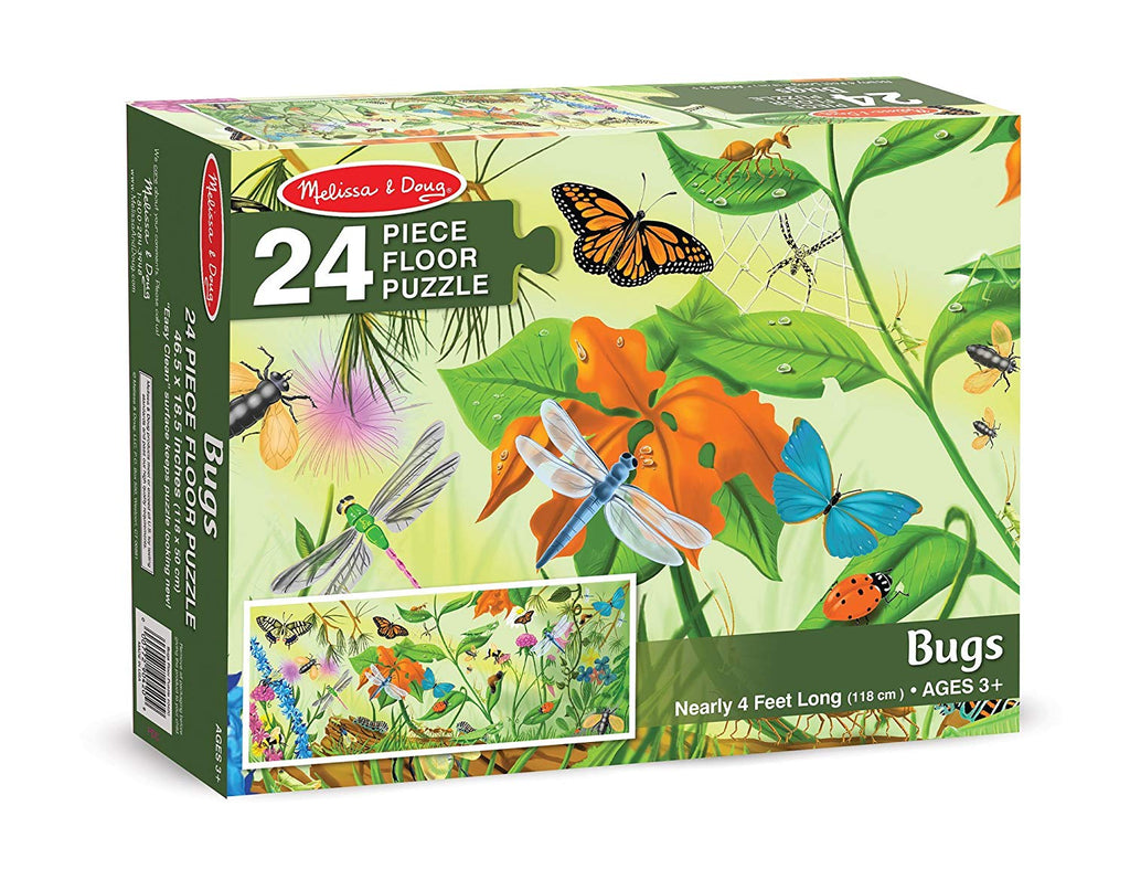 Melissa & Doug Bugs Floor Puzzle (24 pc)