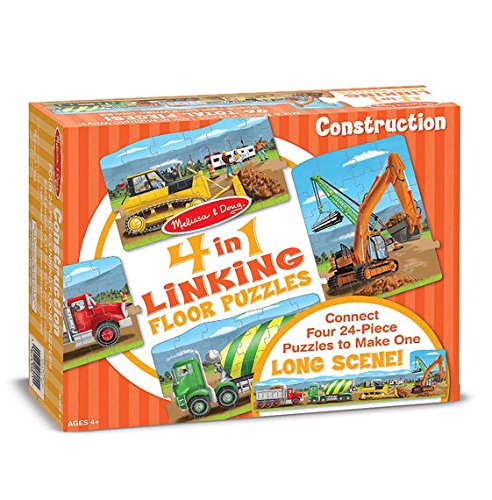Melissa & Doug Construction Linking Floor Puzzle (96 pc)