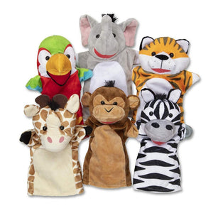 Melissa & Doug Deluxe Safari Puppet Set