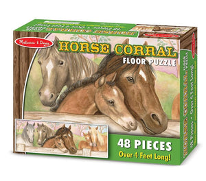 Melissa & Doug Horse Corral Floor Puzzle (48 pc)