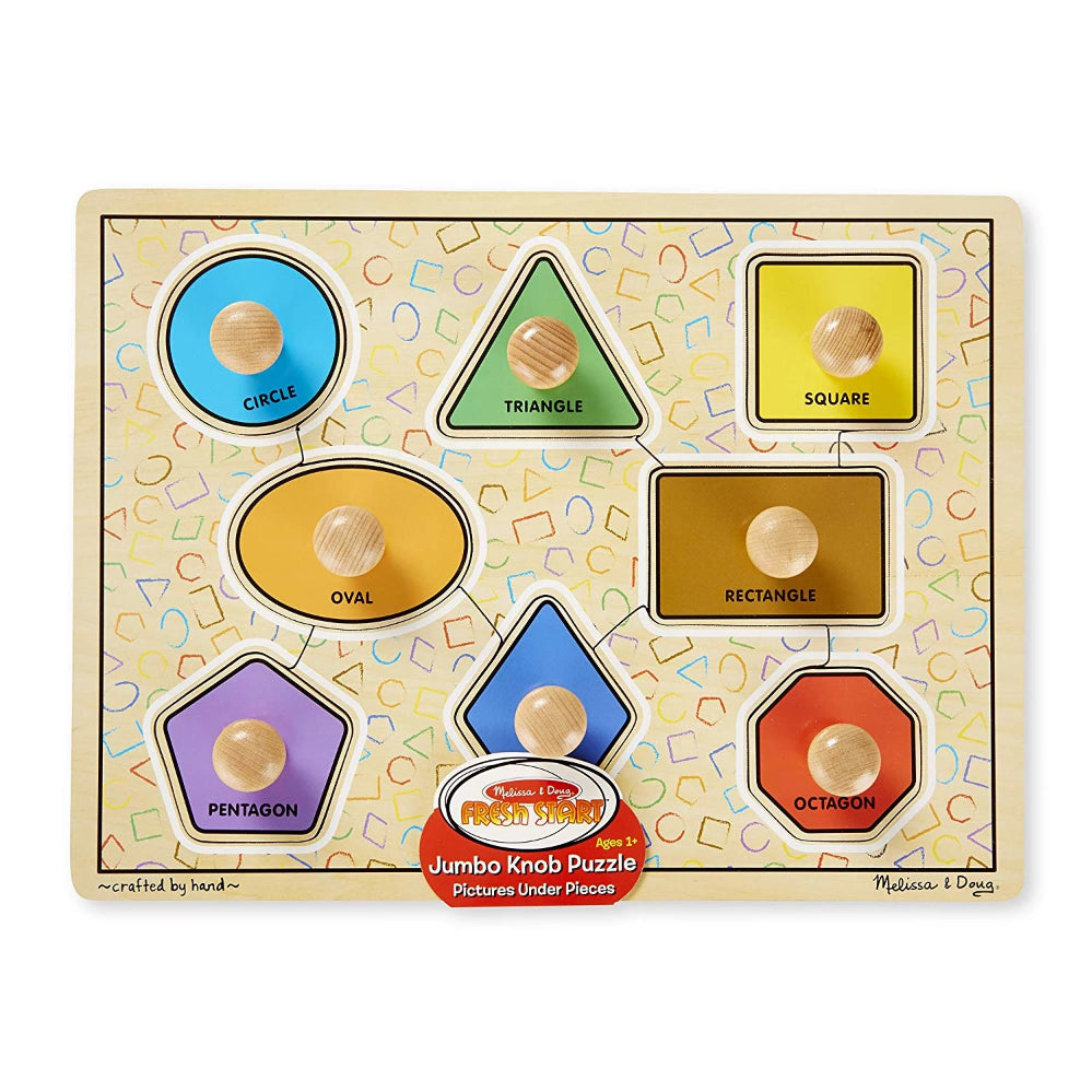 Melissa & Doug Large Shapes Jumbo Knobs