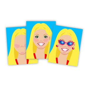 Melissa & Doug Make-A-Face Sticker Pad