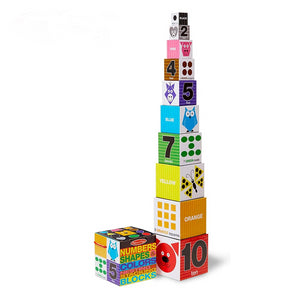 Melissa & Doug Numbers, Shapes & Colours Stacking Blocks