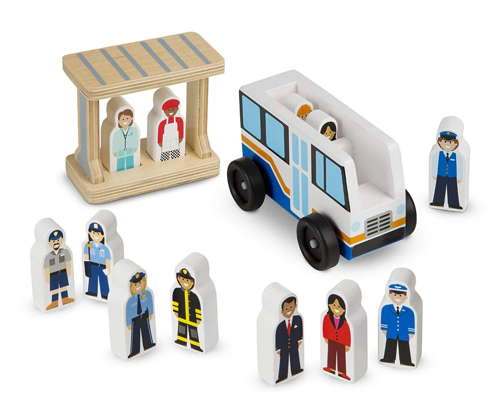 Melissa & Doug Off to Work Bus Set
