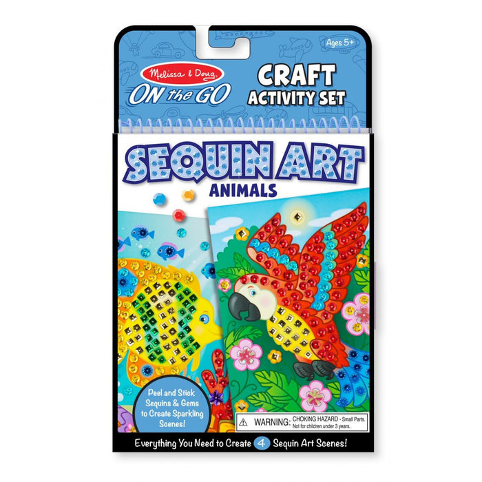 Melissa & Doug On the Go - Sequin Art - Animals