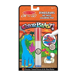 Melissa & Doug On the Go Color Dinosaurs Blast No-Mess Coloring Pad
