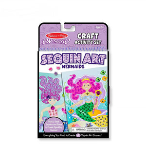 Melissa & Doug On the Go Mermaids Sequin Art