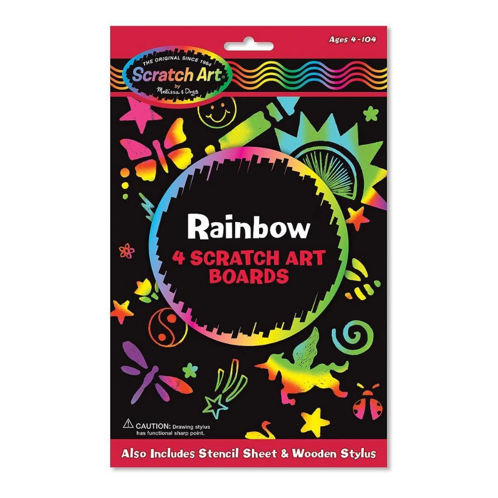 Melissa & Doug Rainbow Scratch Art Boards