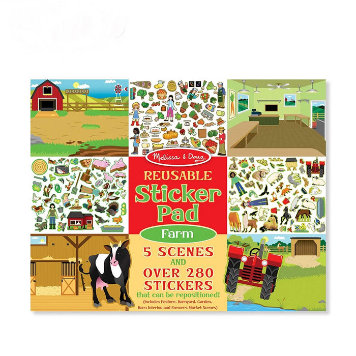 Melissa & Doug Reusable Sticker Pad - Farm