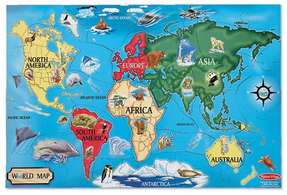 Melissa & Doug World Map Floor Puzzle (33 pc)