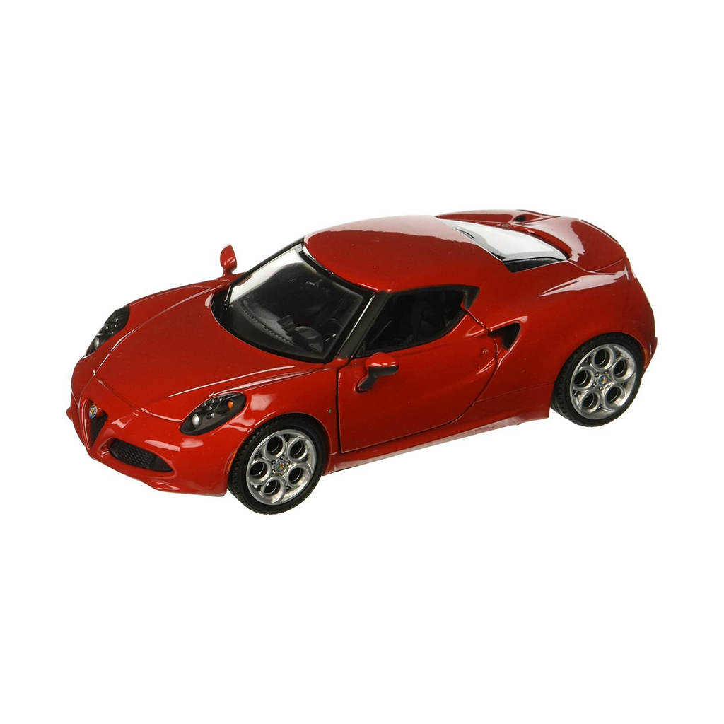 Motormax Alfa Romeo 4C Red 1:24 Scale Diecast Car