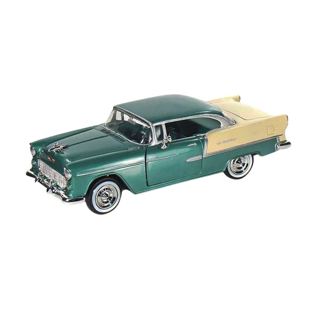 Motormax Chevy Bel Air Green 1955 1:24 Diecast Scale Car