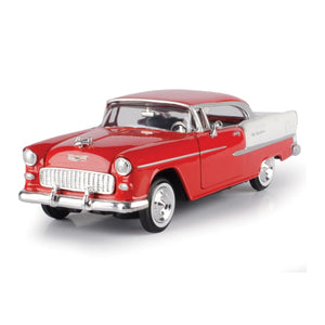 Motormax Chevy Bel Air Red 1955 1:24 Scale Diecast Car