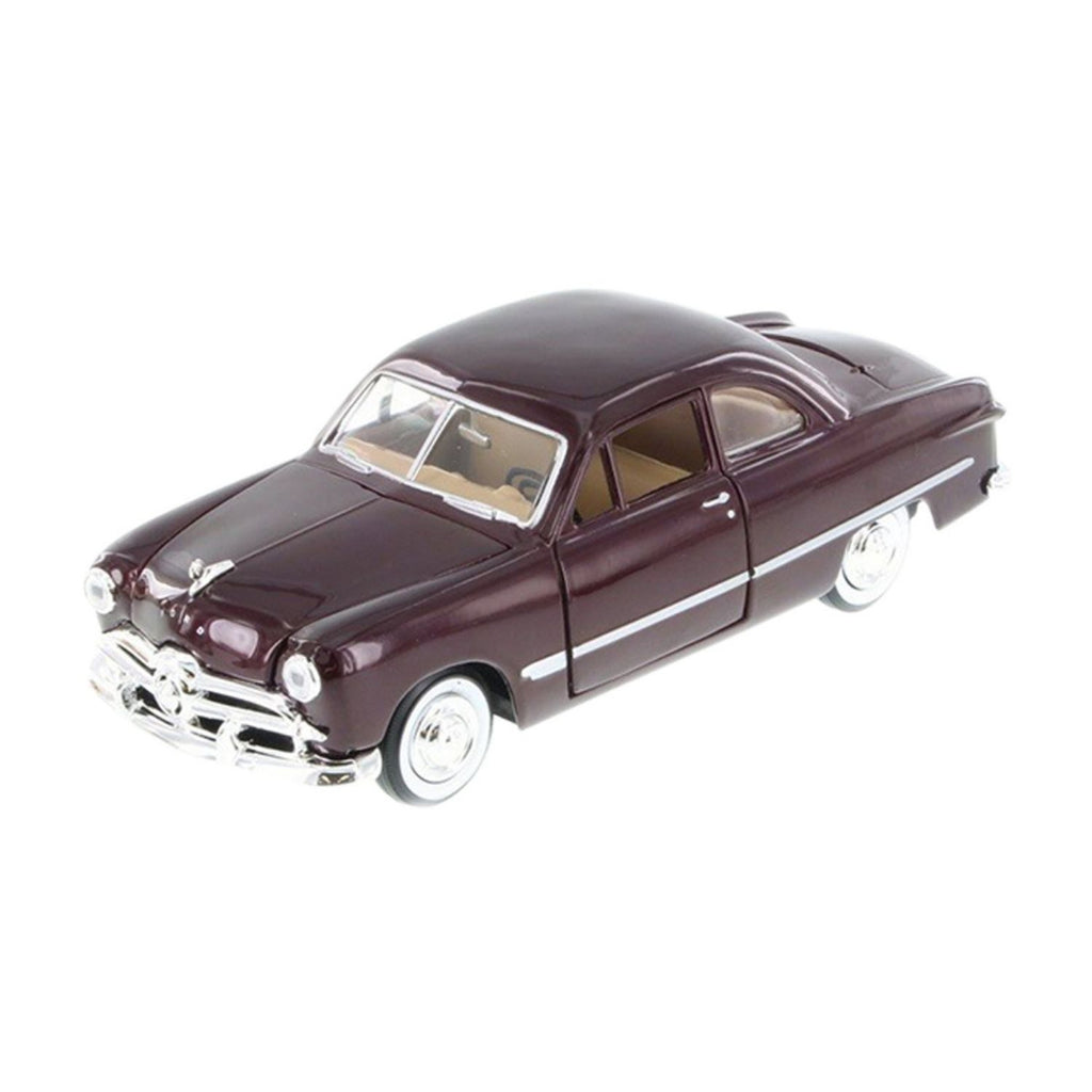 Motormax Ford Coupe Dark Burgundy 1949 1:24 Scale Diecast Car