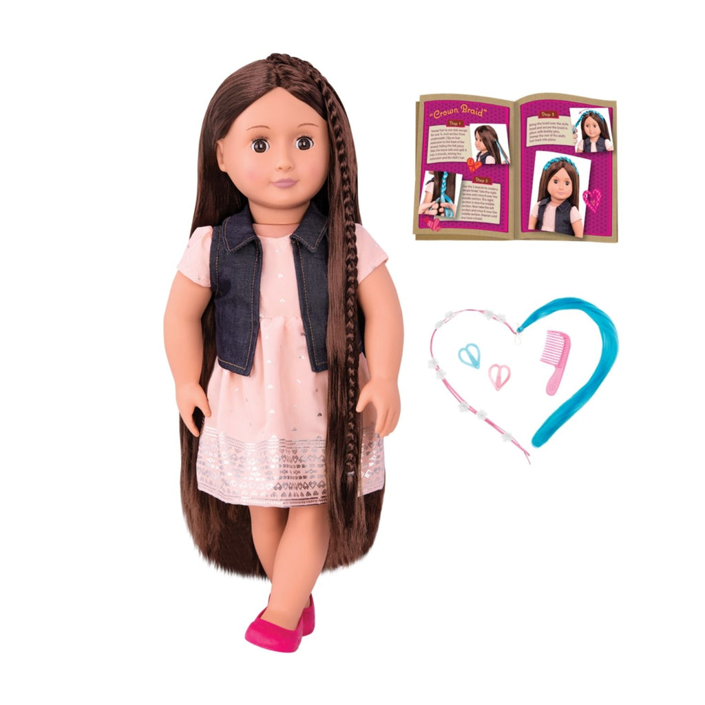 Our Generation Hairplay Doll Kaelyn 18inch Brunette