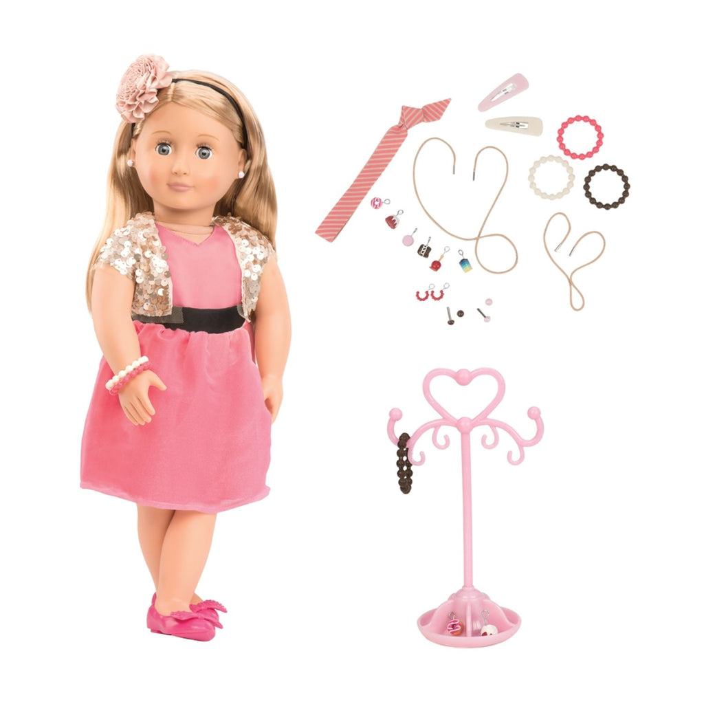 Our Generation Jewelry Doll Audra 18inch Brown Hair