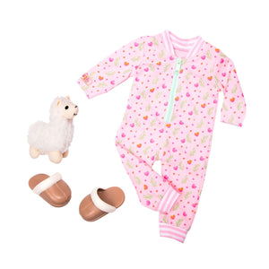 Our Generation Regular Pyjama Outfit Llama Llullabies