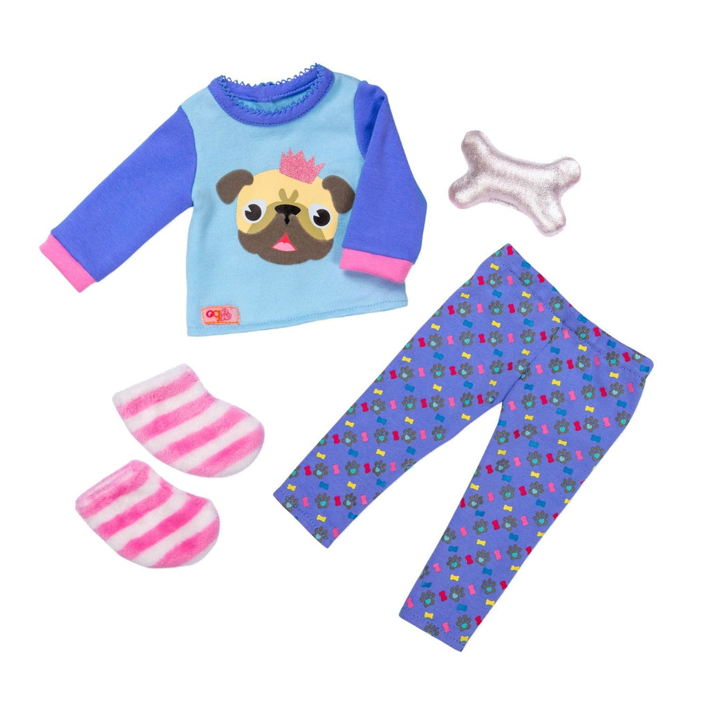 Our Generation Regular Pyjama Outfit Pug-Jama Party