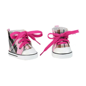 Our Generation Shoes for 18 inch Doll - Plaid All Over