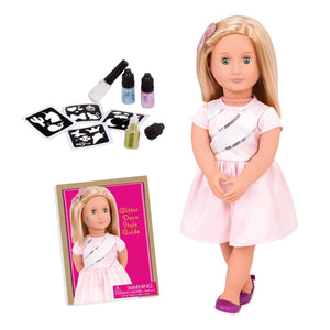 Our Generation Tatoo Doll Rosalyn W/Glitter Deco 18inch
