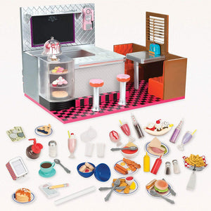 Our Generation Deluxe Bite To Eat Retro Diner Playset