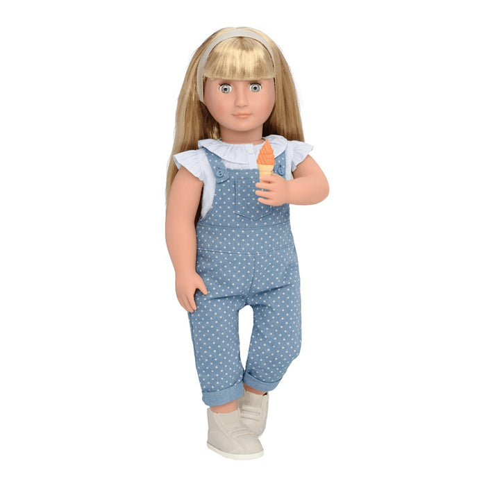 Our Generation Deluxe Doll Lorelei 18 inch  Blonde With Book