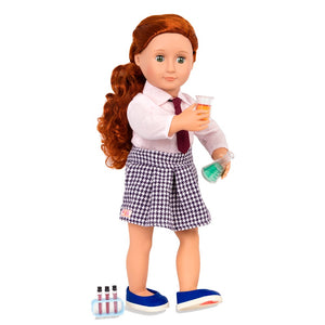 Our Generation Deluxe Doll Twin Sia 18 inch Redhead With Book