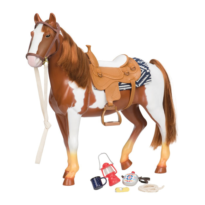 Our Generation Horse Appaloosa Trail Riding White & Brown 20 Inch