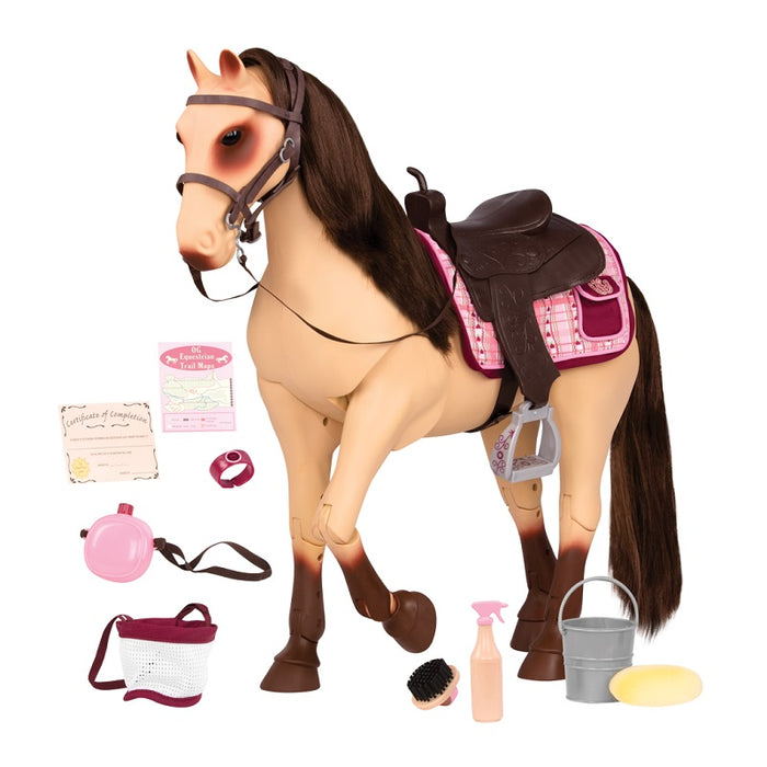 "Our Generation Poseable 20"" Horse - Morgan with Accessories Fits 18"" Dolls"