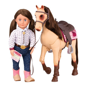 Our Generation Horse Morgan Poseable Cream 20inch