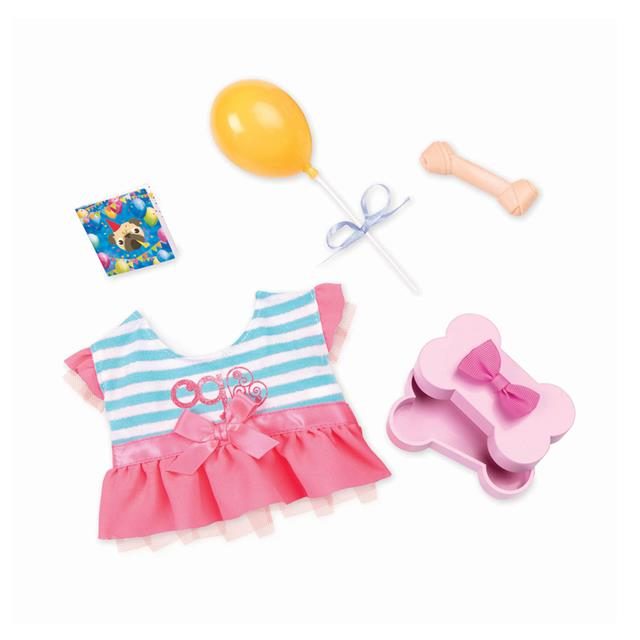 Our Generation Regular Dog Garment Furry Party Set