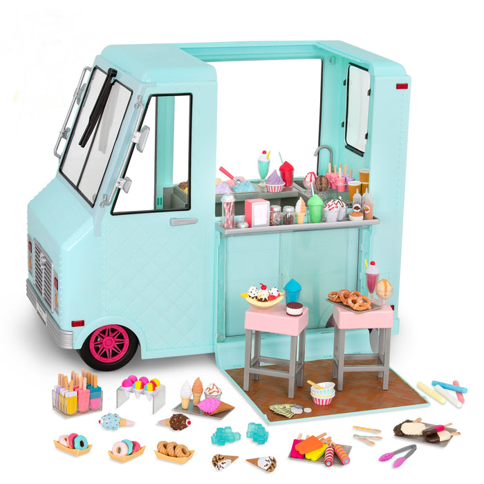 Our Generation Vehicles Sweet Stop Ice Cream Truck W/ ACCS