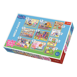 Peppa Pig 10 In 1 Mega Puzzle Pack