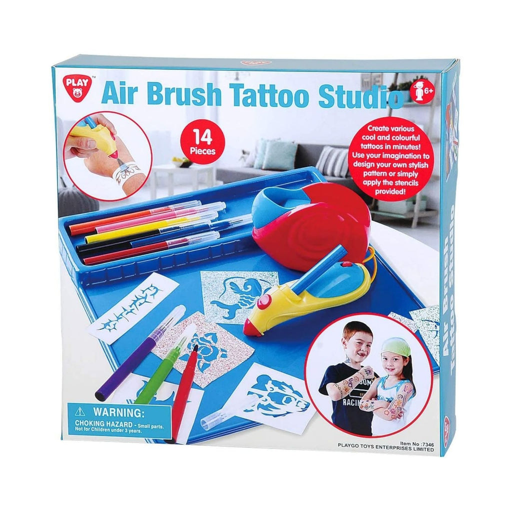 PlayGo Air Brush Tattoo Studio 14 Piece
