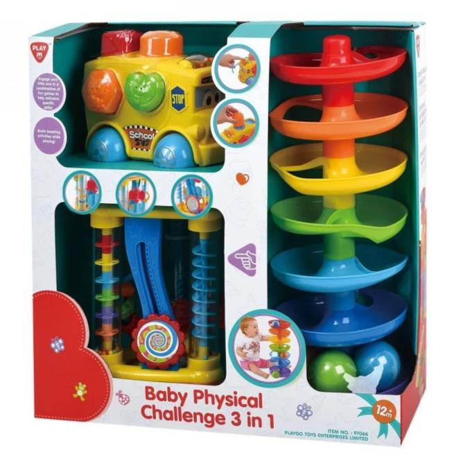 PlayGo Baby Physical Challenge 3 In 1 Bus Shape Sorter