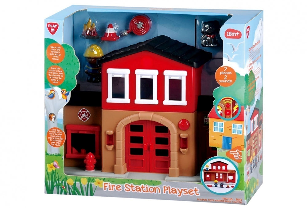 PlayGo Bo Fire Station Rescue