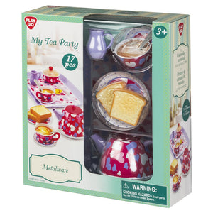 PlayGo My Tea Party Metalware 17 Pieces