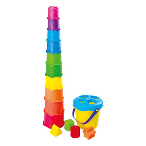 PlayGo Rainbow Cups & Shapes Bucket