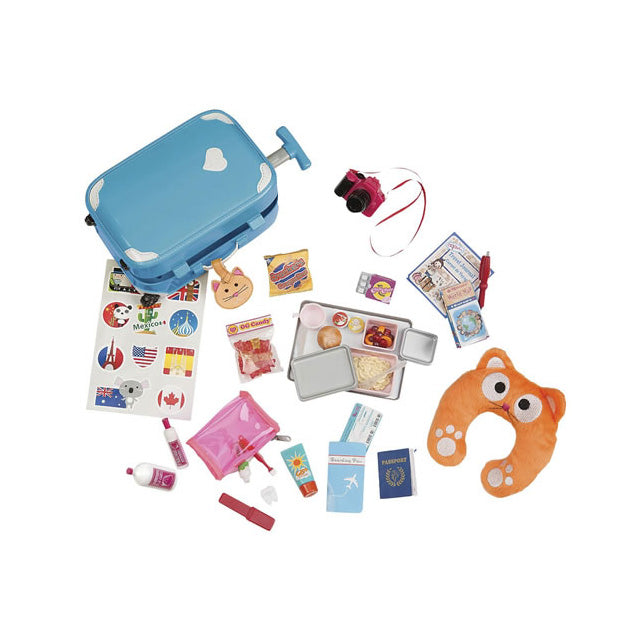 Our Generation Well Traveled Luggage Playset with accs